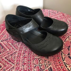 Dansko Harlow Mary Jane Clogs With Floral Detail